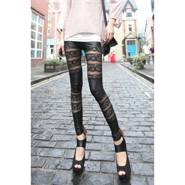 Leggins glam'rock dentelle