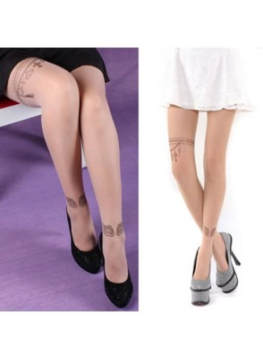 Favori Collants fantaisie Tatouage motif ailes PZ76